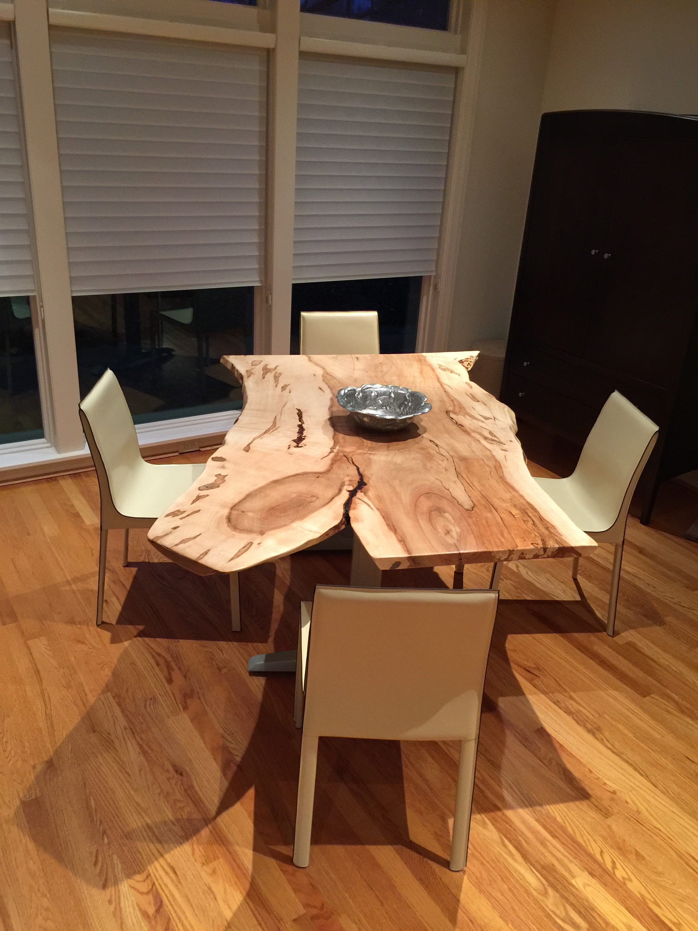 Live Edge Ambrosia Maple Table