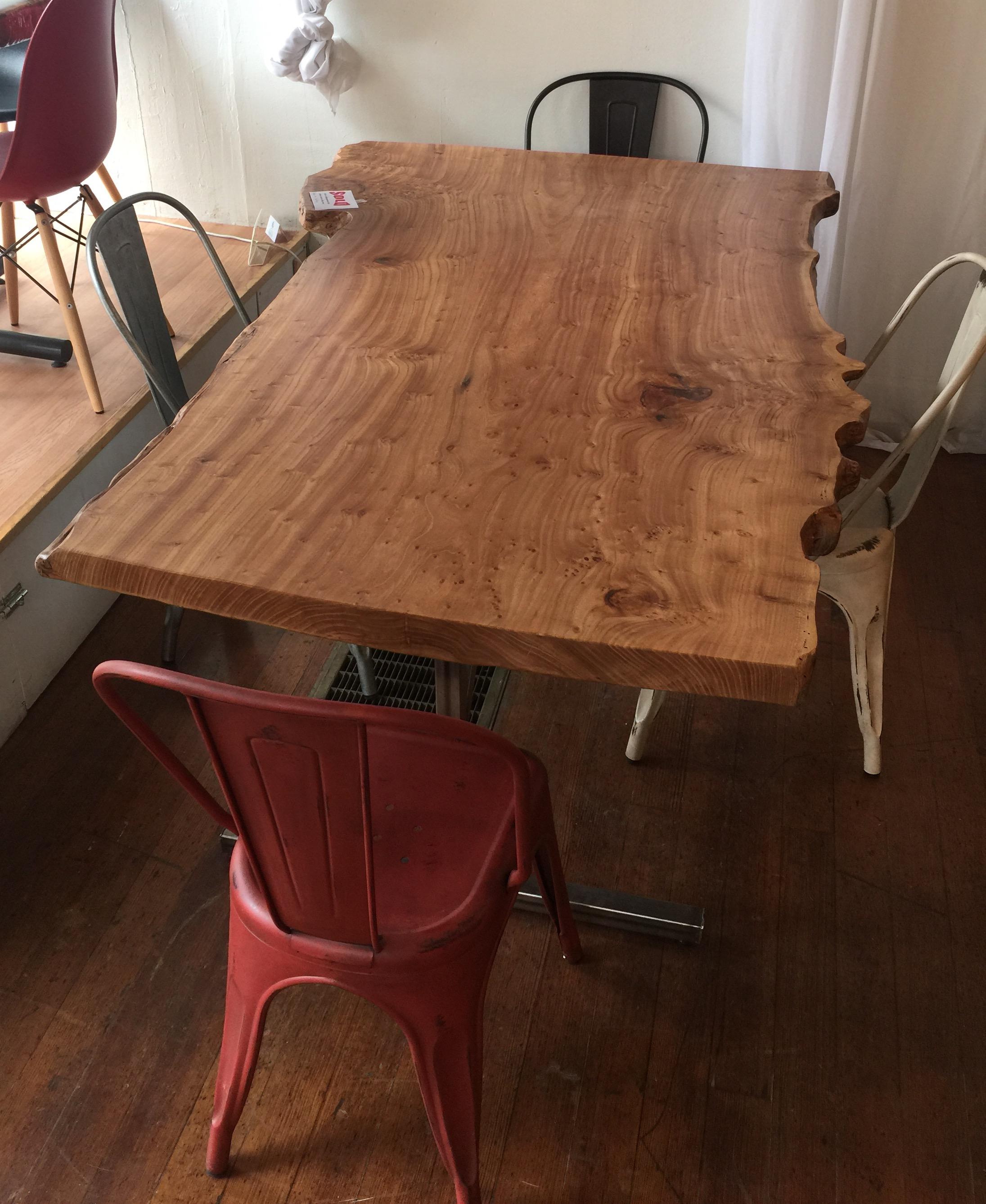 and finish is just edge redwood my red dinner natural top r live danish dining finished christmas oil table for in woodworking bade cedar time comments