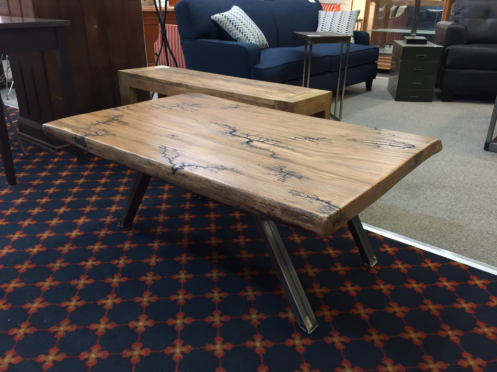 Live Edge Red Oak Lichtenburg Figure Coffee Table
