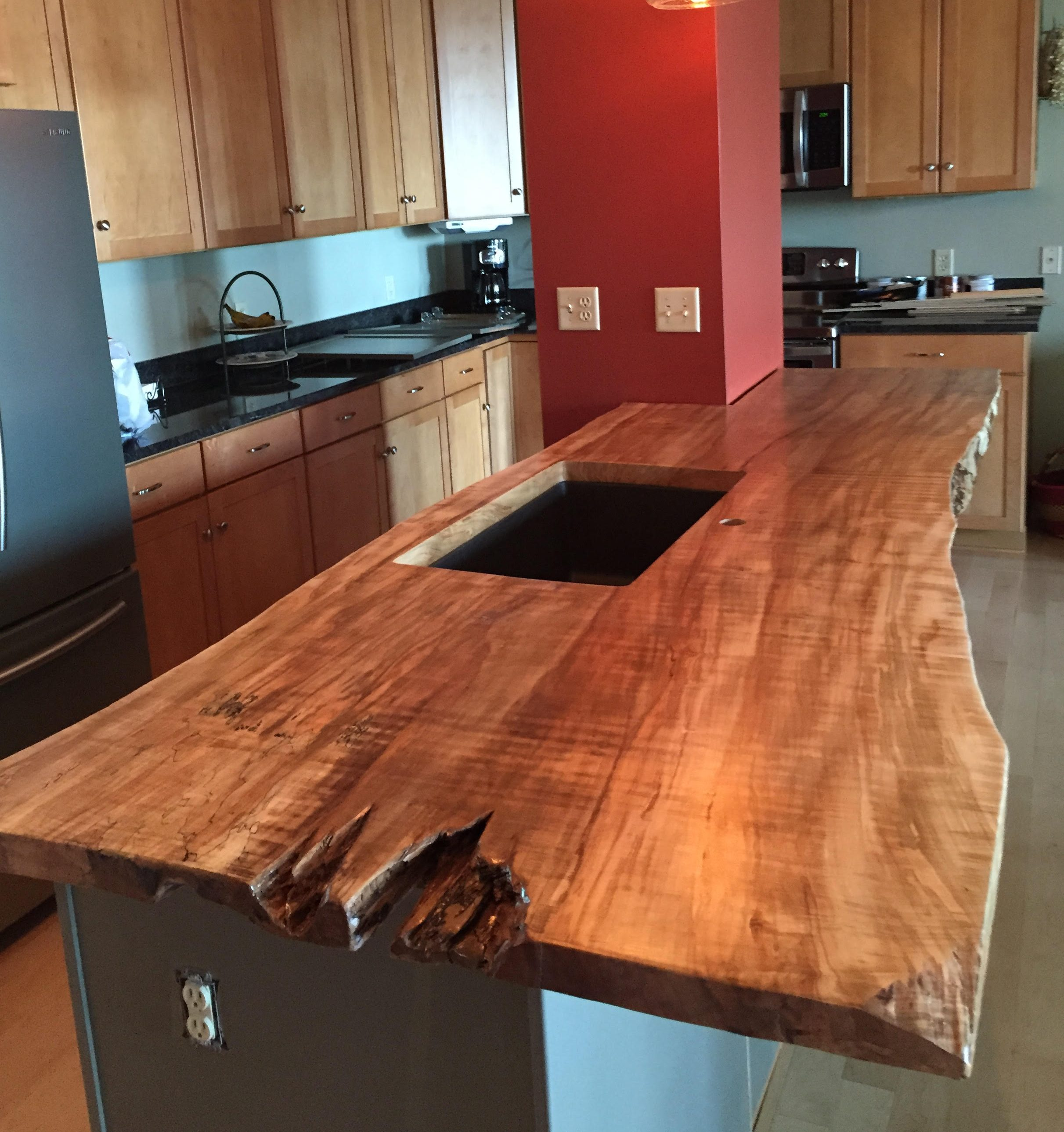 Live Edge Kitchen Countertops Live Edge Granite
