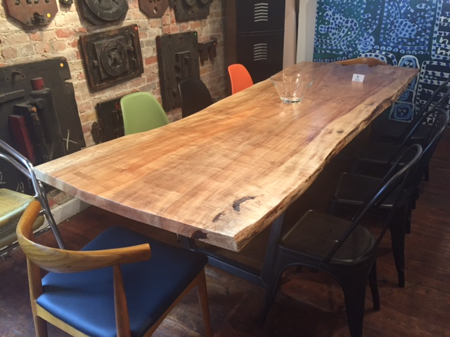Live Edge Poplar Dining Table