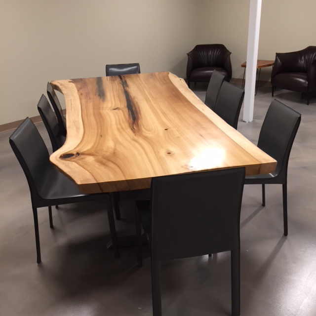 Live Edge Rainbow Poplar Break Room Table 1