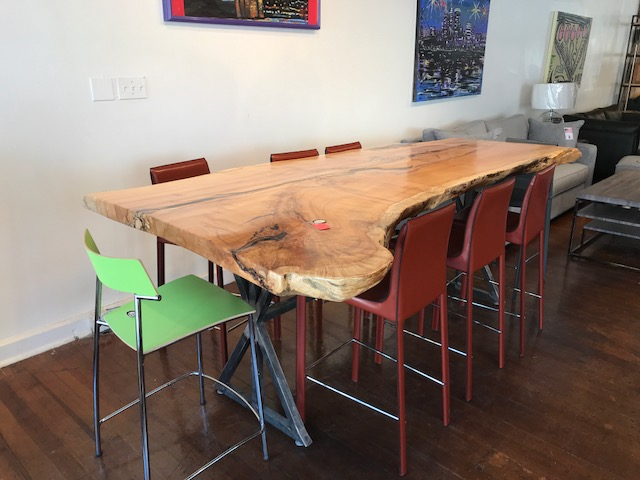 Live Edge Silver Maple Counter Height Table