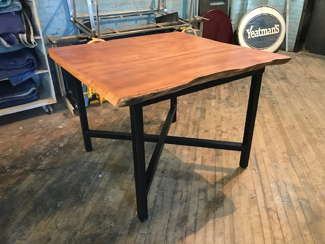 Live Edge Angelim Pedra on Counter Height Base