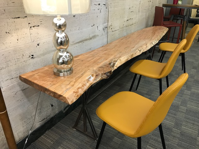 Live Edge Ambrosia Maple Console Table 2