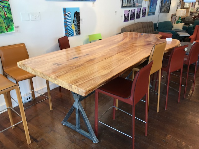 Live Edge Elm Counter Height Table
