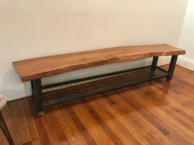 Live Edge Poplar Bench
