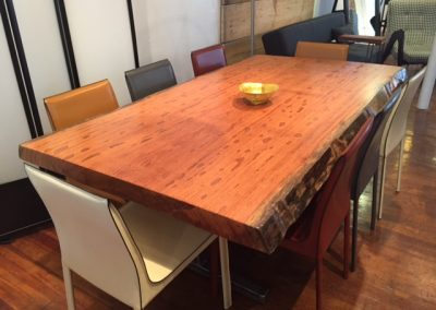 Live Edge Angelim Pedra Table on Custom T-Leg Base 2