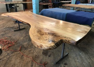Live Edge Elm Dining Table 1