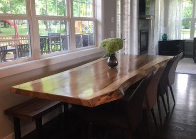 Live Edge Rainbow Poplar Dining Table 2