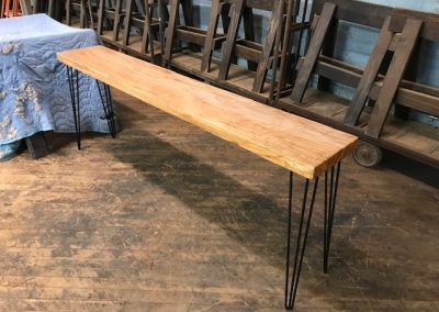 Custom Ambrosia Maple Console Table with Hairpin Legs