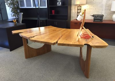 Custom Cherry Fanned Out Table Desk 1