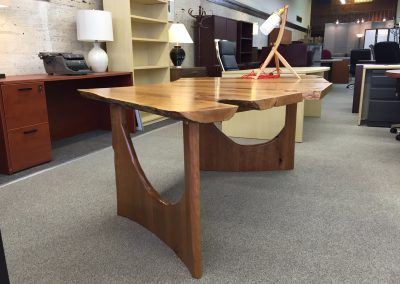 Custom Cherry Fanned Out Table Desk 2