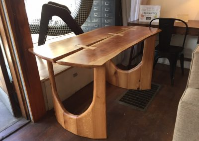 Custom Cherry and Red Oak Bow Tied Table Desk 1