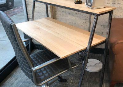 Custom Reclaimed Wood 2-tier Metal Desk