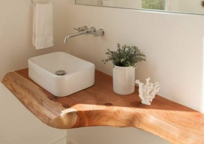 Live Edge Ash Bathroom Counter