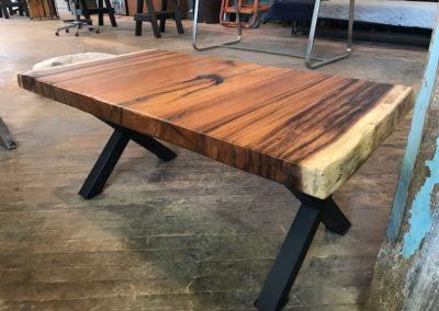 Live Edge Australian Blackwood Coffee Table with X Legs
