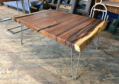 Live Edge Australian Blackwood Table with Hairpin Legs