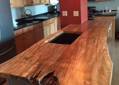 Live Edge Maple Kitchen Countertop 1
