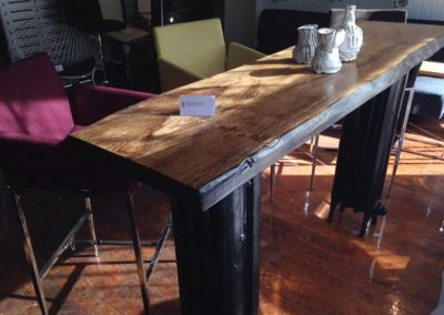 Live Edge Radiator Bar Table 1
