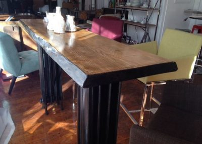 Live Edge Radiator Bar Table 2
