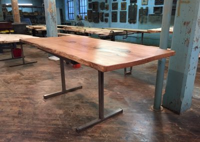 Live Edge Red Oak Bar Table