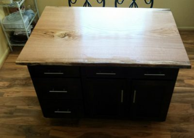 Live Edge Red Oak Island Countertop