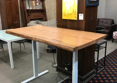Live Edge White Oak Height Adjustable Table Desk