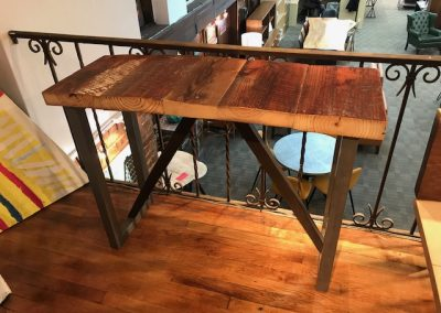 Reclaimed Wood Console Table 2