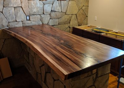 Live Edge Australian Blackwood Lichtenberg Figure Bar Top