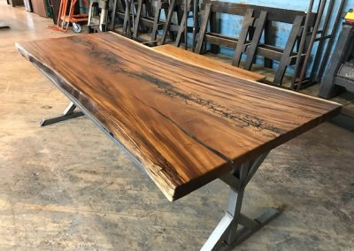 Live Edge Australian Blackwood with Lichtenberg Design 1
