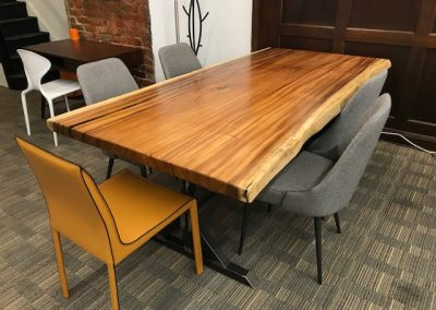 Live Edge Australian Blackwood Dining Table