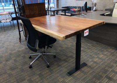 Live Edge Australian Blackwood Height Adjustable Desk