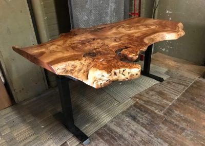 Live Edge Magnolia Height Adjustable Desk