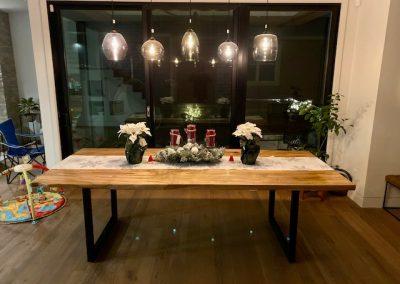 Custom Ambrosia Maple Dining Table on Square Leg Base
